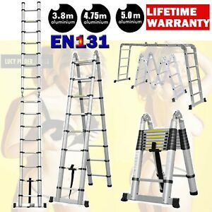 Collapsible Telescopic Ladder Loft Roof Extension Foldable Aluminum Step Ladders
