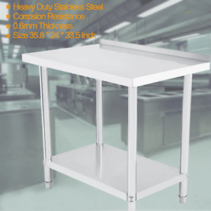24 x 36 Stainless Steel Work Table Food Prep Kitchen Restaurant With Backsplash