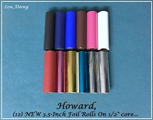 Howard Personalizer 12 New Foil Rolls On 1 2 Core Hot Foil Stamping Machine