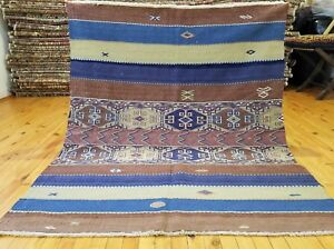Beautiful Antique 1930 1940 S Camel Bag Chuval Sumak Embroidered Panels Rug