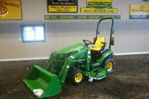 2013 John Deere 1025r 4x4 Tractor Loader Hydro 150 Hours 60 Belly Mower