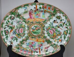 Antique Chinese Export Rose Medallion Tray Late 1800 S 12 5 X 10 Inches
