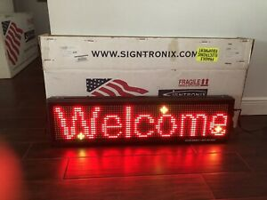 Signtronix Led 40sx Bannerlite V3 Indoor window Programmable Sign