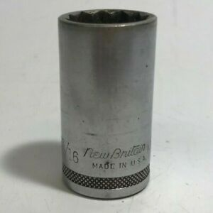 Genuine New Britain Nbd22 11 16 12 Point 3 8 Drive Socket Only U S A Used