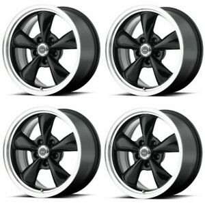 Set 4 16 American Racing Torq Thrust M Ar105 16x7 5x110 35mm Gloss Black Wheels