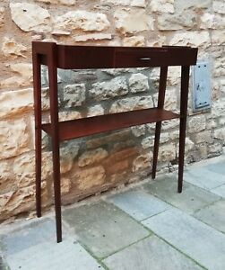 Splendid Wall Console Table Mid Century Mahogany Brass By Ico Parisi Italy 50s