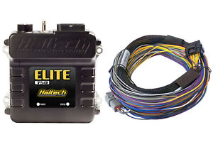 Haltech Elite 750 Ecu Universal Basic 8 Ft Wiring Harness Kit 3 Bar Map