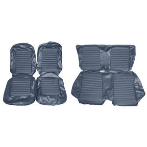 Mustang Upholstery Set W Front Bucket Seats Blue Standard Cp 1966