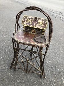 Adirondack Old Hickory Style Smoking Stand Ralph Lauren Cabin Decor