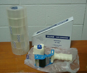 New 6 Rolls Uline S 423 Industrial 2 X 110 Yds Packing Tape W H 150 Dispenser