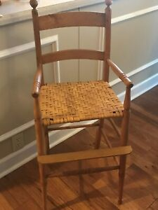 Primitive Child S High Chair With Cane Seat