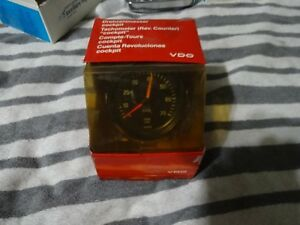 Vintage Vdo Tachometer 3 1 4 Inches Metal Housing Germany 1980 S Nos Rare