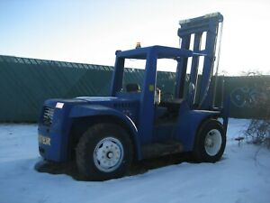 Hyster H200es 20 000 Lbs Rough Terrain Yard Forklift Lift Truck Gm Gas
