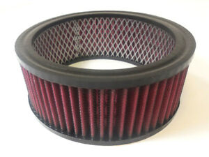 6 3 8 Round Washable Element Air Filter Pre Oiled Red 2 1 2 Tall