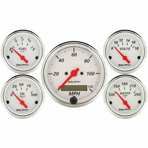 Auto Meter Arctic White Analog Gauge Kit 1302