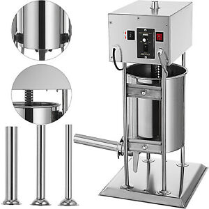 12l Electric Meat Maker Filler Sausage Stuffer Stainless Steel 304 Meat Press