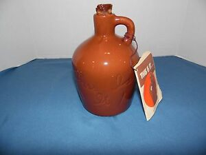 Vtg Ceramic Little Brown Whiskey Jug Inscribed This Is It House Of Webster