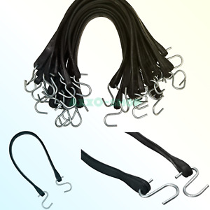 Kitchentoolz 25 Pack Of 21 Inch Rubber Bungee Cord Tarp Straps With Hooks 32