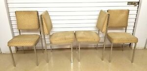 Set Of 4 Mid Century Modern Dining Chairs Strong Sturdy Milo Baughman Style