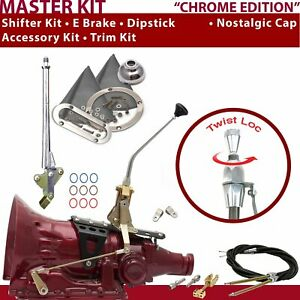 C4 Shifter Kit 10 E Brake Cable Clevis Trim Kit Dipstick For D70f4 Tunnel Ram