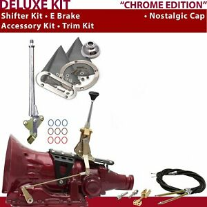 Fmx Shifter Kit 6 E Brake Cable Trim Kit For D3e12 Chevy Truck Tunnel Ram 400