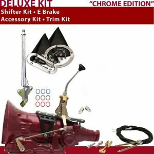C4 Shifter Kit 8 E Brake Cable Clevis Trim Kit For D55dd Tunnel Ram 454 Cj