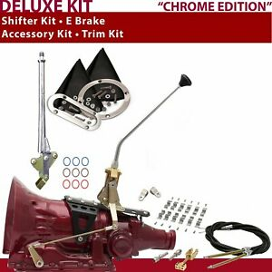 C4 Shifter Kit 12 E Brake Cable Clamp Clevis Trim Kit For D8b47 Tunnel Ram Shor