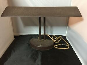 Antique Large Industrial Bankers Metal Desk Lamp