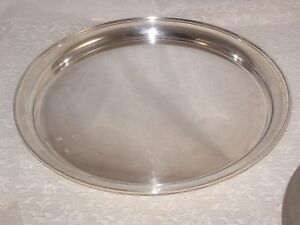 Sterling Fisher 2880 Plain Elegant Round Tray 500 Gram Not Scrap