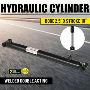 Hydraulic Cylinder 2 5 Bore 18 Stroke Double Acting Top Cross Tube Welded