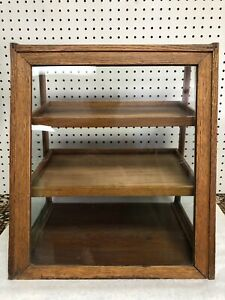 Antique Vtg Original Store Display Gum Case Showcase Counter Top General Store