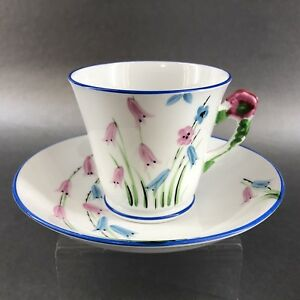 Phoenix Antique Flower Handle Bone China Teacup England Vintage Tea Cup England