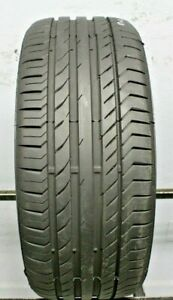 One Used 225 40r18 2254018 Continental Conti Sport Contact 5 Ssr Bmw 9 32 F196