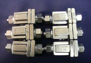 L k Set Of 6 Synthes Swiss 393 44 393 45 Adjustable Multi pin Clamp Assemblies