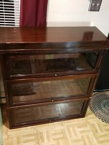 Antique Globe Wernicke 3 Stack 4 Piece Barrister Bookcase