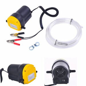 Us 12v Electric Transfer Scavenge Suction Pump Oil Gas Diesel Fuel Extractor