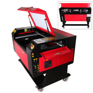 60w Co2 Laser Engraving Cutter Machine Engraver Water Cooling Usb Rotary Axis