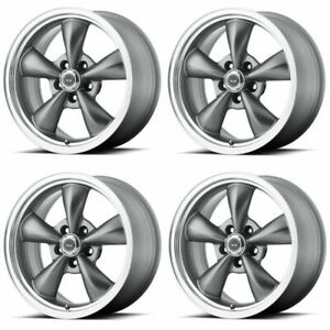 Set 4 18 American Racing Torq Thrust M Ar105 18x8 5x4 5 0mm Anthracite Wheels