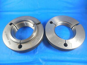 2 3 4 4 Unc 2a Thread Ring Gages 2 75 Go No Go P d s 2 5844 2 5739 2 3 4 4