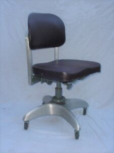 Vintage Goodform Desk Chair Retro Industrial Aluminum Machine Age Propellerbase
