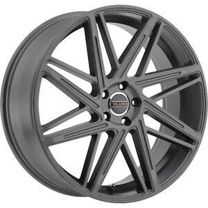 22x9 Gray Milanni Blitz 9062 Wheels 5x115 20 Fits Dodge Charger