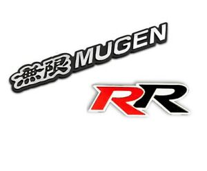 3d Aluminum Black Mugen rr Car Front rear Badge Fender Body Emblem Decal Sticker