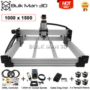 1000 1500mm 4 Axis Workbee Cnc Router Machine Cnc Engraver Full Kit Grbl 1 5kw