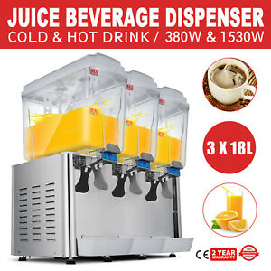 54l Hot Cold Drink Juice Beverage Dispenser Fruit Juicer Bubbler 14 25gal