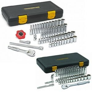 Gearwrench 80300p 1 4 Drive 51 Pc Master Socket Set With 3 8 Drive Master Set