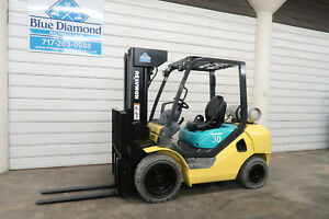 2011 Komatsu Fg30ht 16 6 000 Pneumatic Forklift Dual Fuel Low Hours Toyota