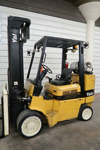 2006 Yale 10 000 Cushion Tire Forklift Lpg Three Stage Sideshift Hyster