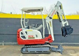 2016 Takeuchi Tb216 Mini Excavator Digger 3 900 Lbs Only 836 Hours Clean