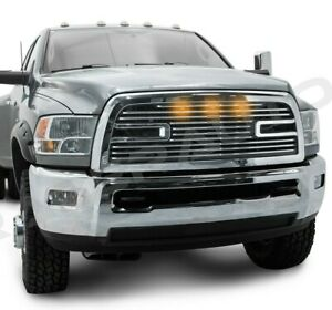 Big Horn 2 3x Led Chrome Replacement Grille Shell For 10 18 Dodge Ram 2500 3500