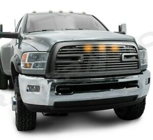 Big Horn 2 led Matte Black Replacement Grille shell For 10 18 Dodge Ram 2500 hd